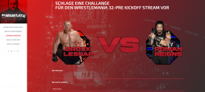 WWE PPV-Showcase Entwurf